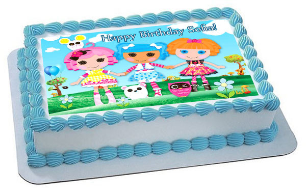 Superb Lalaloopsy Edible Birthday Cake Topper Personalised Birthday Cards Rectzonderlifede