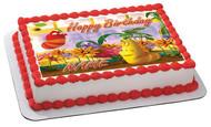 Larva Edible Birthday Cake Topper OR Cupcake Topper, Decor