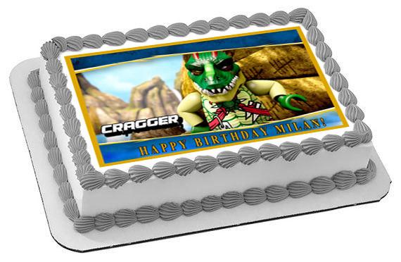 Groovy Lego Chima Cragger Edible Birthday Cake Topper Funny Birthday Cards Online Alyptdamsfinfo