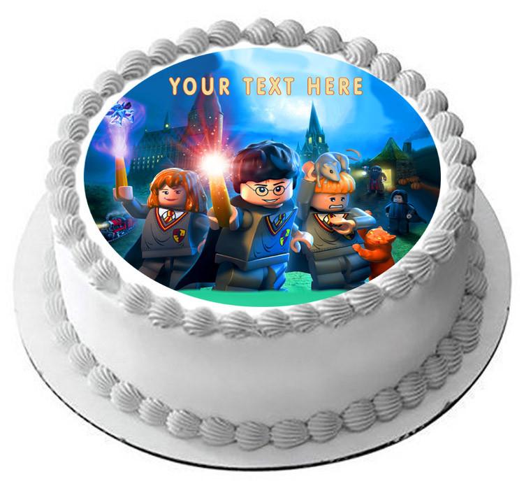 Lego Harry Potter Edible Birthday Cake Topper