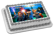 Lego Harry Potter Edible Birthday Cake Topper OR Cupcake Topper, Decor