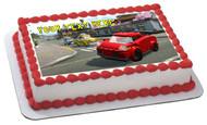 Lego City Edible Birthday Cake Topper OR Cupcake Topper, Decor