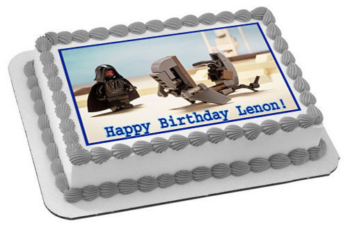 Terrific Decor Lego Darth Vader Edible Cake Topper Or Cupcake Topper Home Funny Birthday Cards Online Overcheapnameinfo