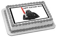 Lego Darth Vader Edible Birthday Cake Topper OR Cupcake Topper, Decor