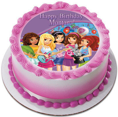 Lego Friends Edible Birthday Cake Topper