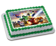 Lego Marvel 2 Edible Birthday Cake Topper OR Cupcake Topper, Decor