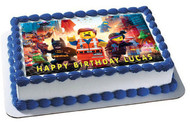 LEGO MOVIE Edible Birthday Cake Topper OR Cupcake Topper, Decor