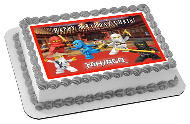 Lego Ninjago 1 Edible Birthday Cake Topper