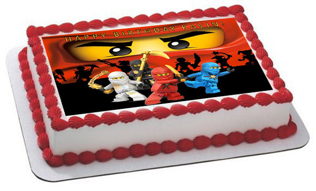 Wondrous Lego Ninjago 2 Edible Birthday Cake Topper Birthday Cards Printable Opercafe Filternl