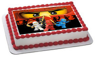 Lego Ninjago 2 Edible Birthday Cake Topper OR Cupcake Topper, Decor