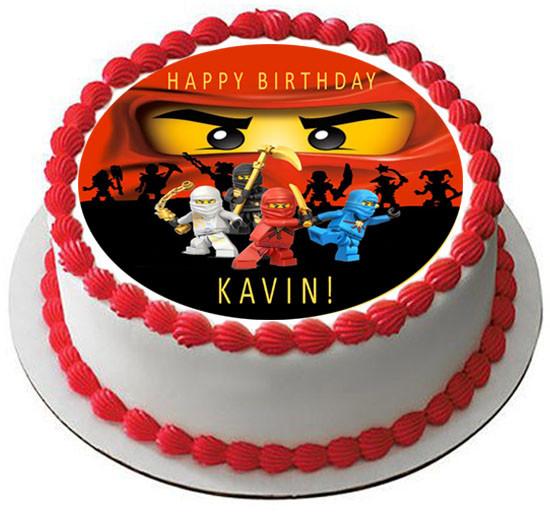 Lego Ninjago 2 Edible Birthday Cake Topper OR Cupcake Topper, Decor