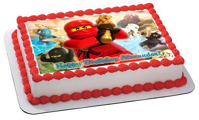 Lego Ninjago 3 Edible Birthday Cake Topper