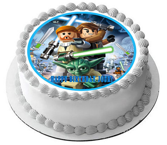 Lego Star Wars 1 Edible Birthday Cake Topper