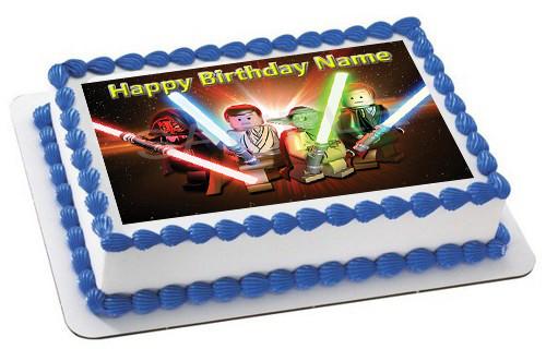 Lego Star Wars 3 Edible Birthday Cake Topper