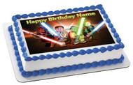 Lego Star Wars 3 Edible Birthday Cake Topper OR Cupcake Topper, Decor