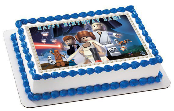 Magnificent Lego Star Wars 7 Edible Birthday Cake Topper Funny Birthday Cards Online Overcheapnameinfo