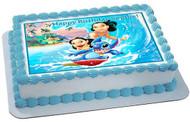Lilo & Stitch Edible Birthday Cake Topper OR Cupcake Topper, Decor