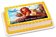 Lion King 1 Edible Birthday Cake Topper OR Cupcake Topper, Decor