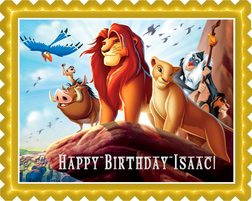 Tremendous Lion King 1 Edible Birthday Cake Topper Funny Birthday Cards Online Fluifree Goldxyz