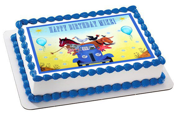 Superb Little Blue Truck Edible Birthday Cake Topper Funny Birthday Cards Online Sheoxdamsfinfo