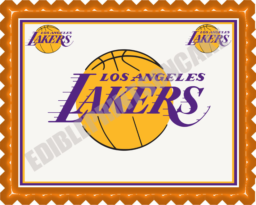 Sensational Los Angeles La Lakers Edible Birthday Cake Topper Funny Birthday Cards Online Sheoxdamsfinfo