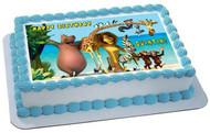 MADAGASCAR Edible Birthday Cake Topper OR Cupcake Topper, Decor