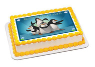 Madagascar Pingu Edible Birthday Cake Topper OR Cupcake Topper, Decor