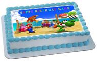 Mario Party Edible Birthday Cake Topper OR Cupcake Topper, Decor