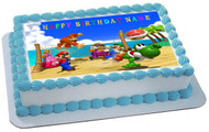 Mario Party Edible Birthday Cake Topper OR Cupcake Topper, Decor