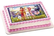 Mia and Me Edible Birthday Cake Topper OR Cupcake Topper, Decor