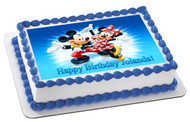 Mickey and Minnie - Edible Cake Topper OR Cupcake Topper, Decor