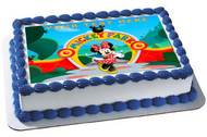 Mickey Mouse Clubhouse (Nr2) - Edible Cake Topper OR Cupcake Topper, Decor