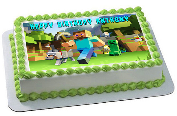 Wondrous Minecraft Characters 2 Edible Birthday Cake Topper Birthday Cards Printable Giouspongecafe Filternl
