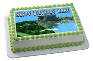 MINECRAFT Characters 8 Edible Birthday Cake Topper OR Cupcake Topper, Decor