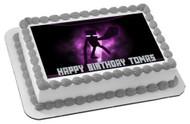MINECRAFT Enderman Edible Birthday Cake Topper OR Cupcake Topper, Decor