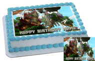 MINECRAFT Orient Excess Edible Birthday Cake Topper OR Cupcake Topper, Decor