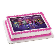 MONSTER HIGH Edible Birthday Cake Topper OR Cupcake Topper, Decor