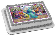 Monsters Inc University Edible Birthday Cake Topper OR Cupcake Topper, Decor