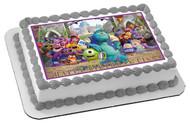 Monsters Inc University Edible Birthday Cake Topper OR Cupcake Topper, Decor