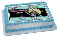 Monster High Lagoona Blue Edible Birthday Cake Topper OR Cupcake Topper, Decor