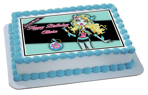 Awesome Monster High Lagoona Blue Edible Birthday Cake Topper Personalised Birthday Cards Beptaeletsinfo