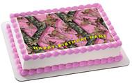 MOSSY OAK Edible Birthday Cake Topper OR Cupcake Topper, Decor