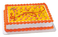 Music Note Edible Birthday Cake Topper OR Cupcake Topper, Decor