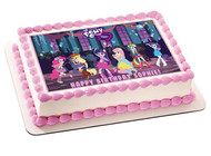 My Little Pony Equestia Girls Edible Birthday Cake Topper OR Cupcake Topper, Decor