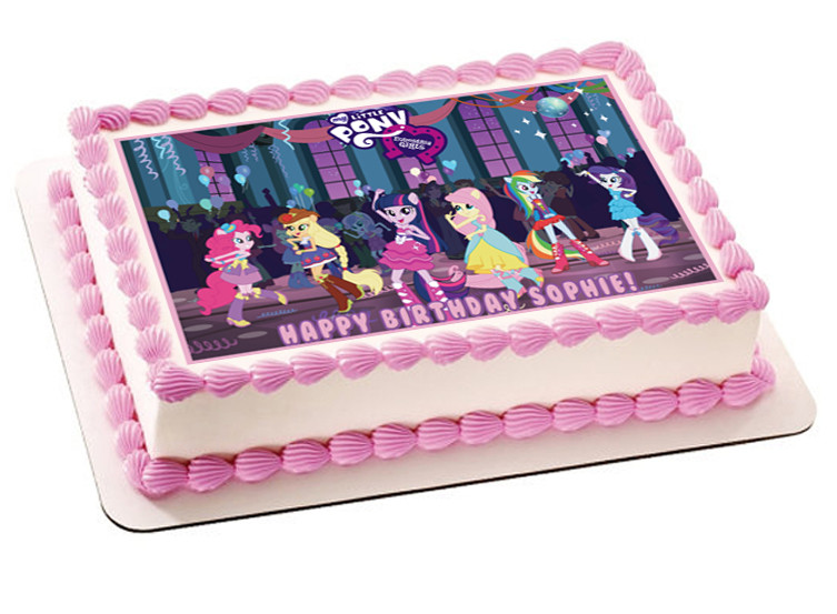 My Little Pony Equestia Girls Edible Birthday Cake Topper OR Cupcake Decor