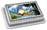 My Neighbor Totoro Edible Birthday Cake Topper OR Cupcake Topper, Decor