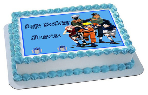 Fantastic Naruto 2 Edible Birthday Cake Topper Personalised Birthday Cards Sponlily Jamesorg