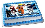 Naruto 3 Edible Birthday Cake Topper OR Cupcake Topper, Decor