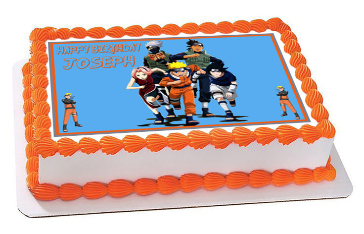 Super Naruto 4 Edible Birthday Cake Topper Personalised Birthday Cards Sponlily Jamesorg