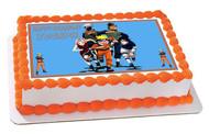 Naruto 4 Edible Birthday Cake Topper OR Cupcake Topper, Decor